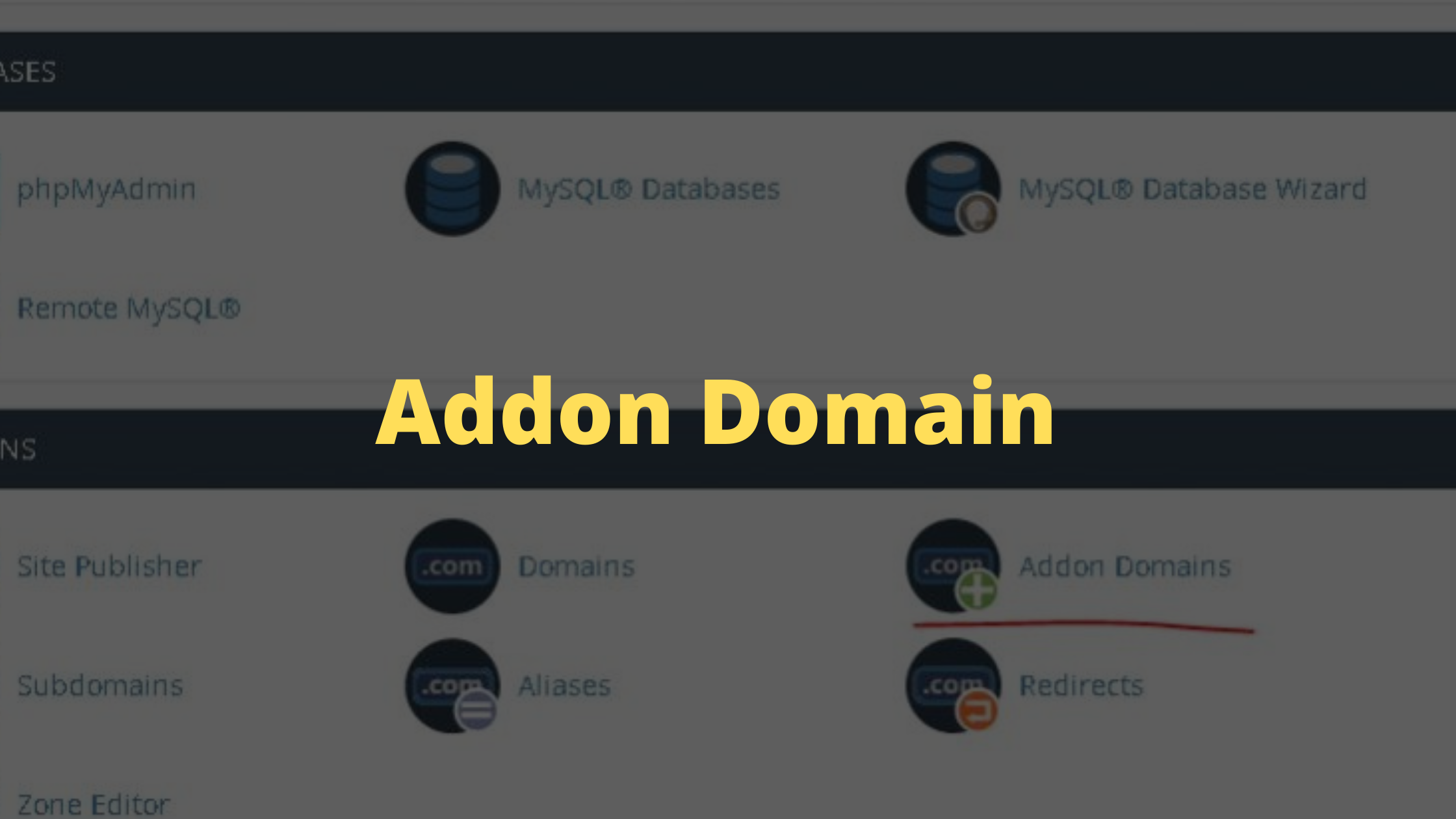 How to create an Addon Domain?