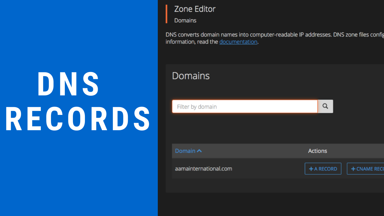 How to add DNS Zone in cPanel ?