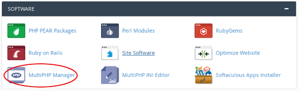 Change PHP Version from cPanel