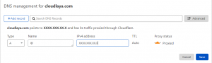manage DNS using cloudflare